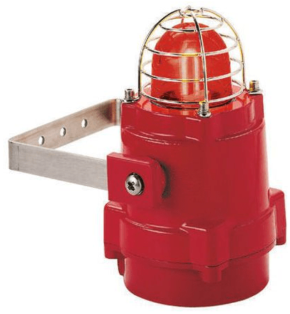 E2S, BEXBG05D230AC-RD Explosion Proof Xenon Beacon, Red, Flashing, Surface Mount, 230 V ac