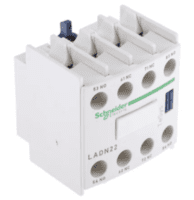 Schneider, LADN22, Electric TeSys Auxiliary Contact Block - 2NO/2NC, 4 Contact, Front Mount