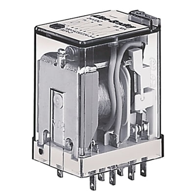 Allen-Bradley, Allen-Bradley 700-HC24Z24, elay, Miniature ICE Cube, 14 Blade, 4 Pole, Double Throw, 7 AMP, 24 Volt DC, Push to Test, LED Option